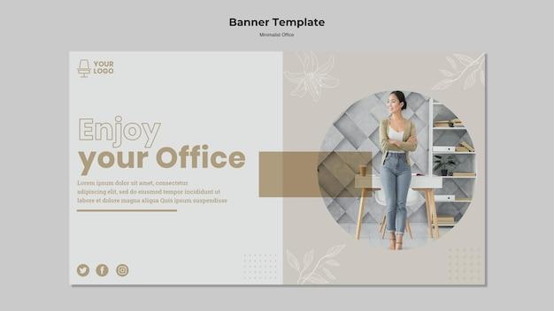 Design minimalista banner concetto Psd Gratuite