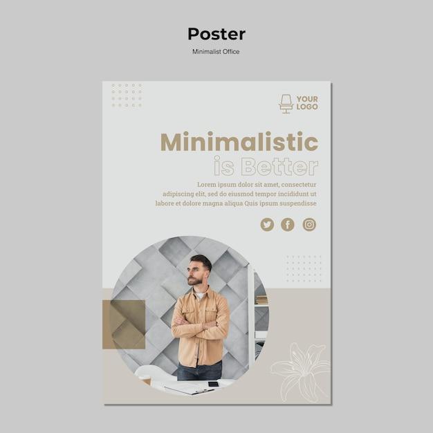 Minimalismo concept design del poster Psd Gratuite