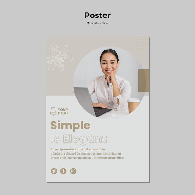 Stile minimalista poster stile Psd Gratuite