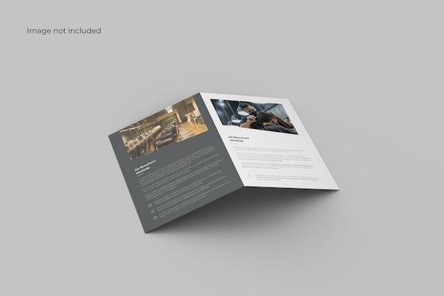 Brochure bifold minimalista mockup Psd Gratuite