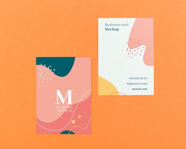 Минималистский макет визитки Бесплатные Psd