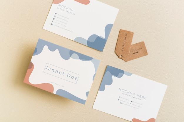 Minimalist business card mockup Premium Psd