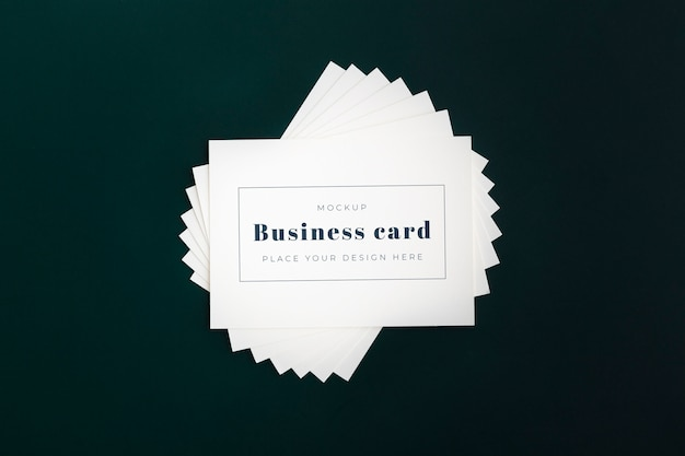 Minimalist business card mockup Free Psd