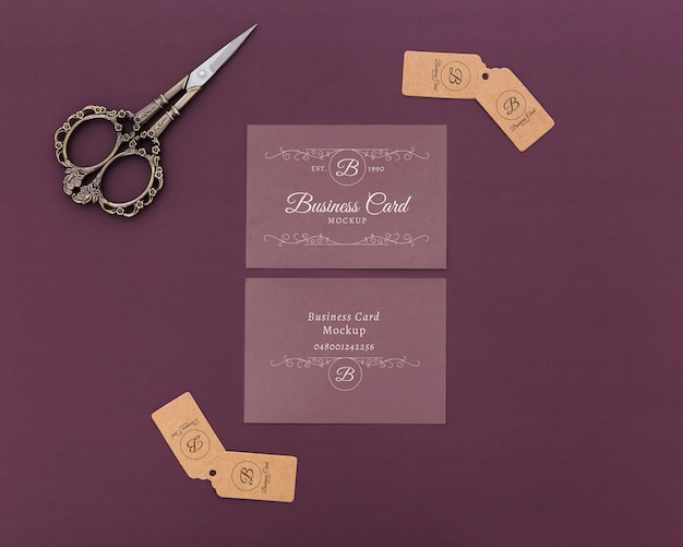 Minimalist business card mockup Free Psd