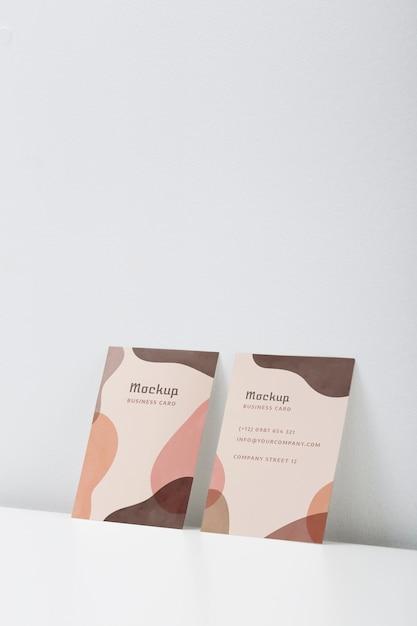 Минималистский макет визитки Premium Psd