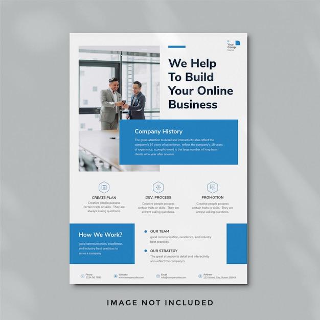 シンプルなビジネスチラシテンプレート Premium Psd