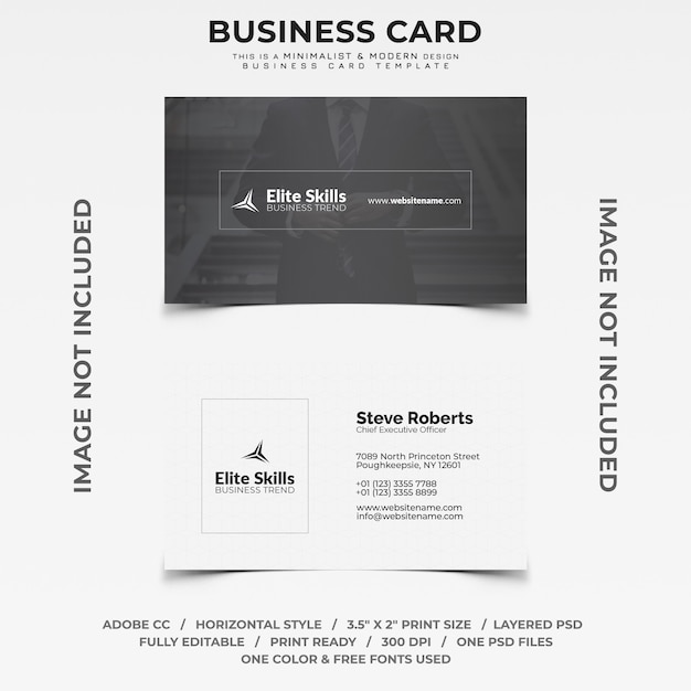 Minimalist and modern business card PSD file   Premium Download