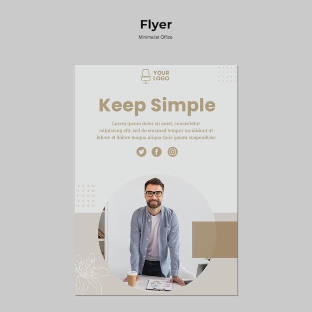 Stile di volantino ufficio minimalista Psd Gratuite