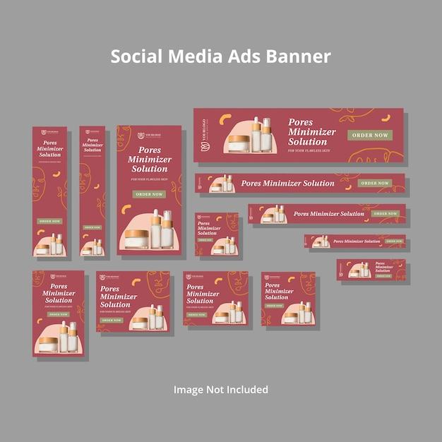 ミニマリストソーシャルメディア広告テンプレート Premium Psd