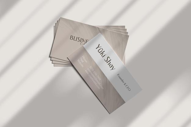 Minimalist visiting business card mockup Free Psd