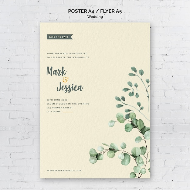 Minimalist Wedding Poster Template