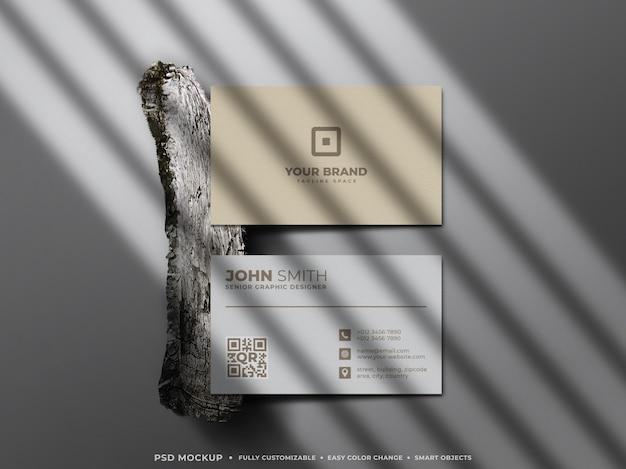 명함 목업의 미니멀하고 깔끔한 구성 프리미엄 PSD 파일