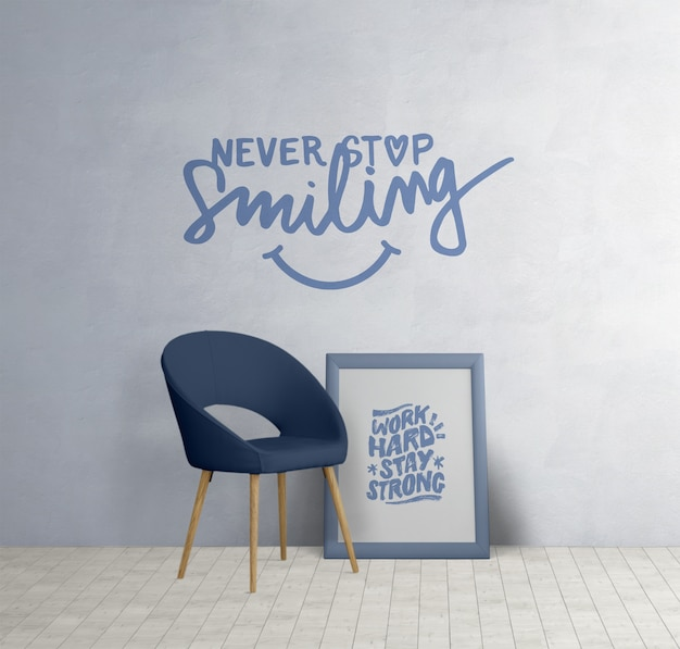 Minimalistic Furniture With Motivational Quotes