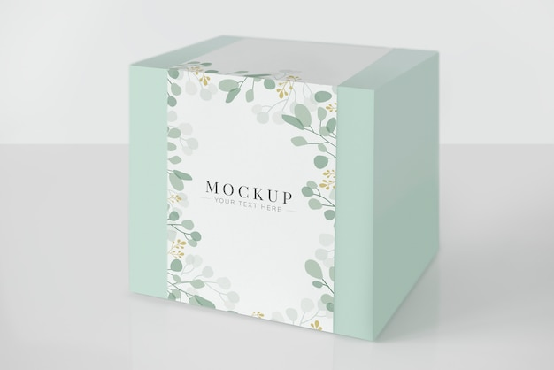 Mint green packaging box mockup Premium Psd