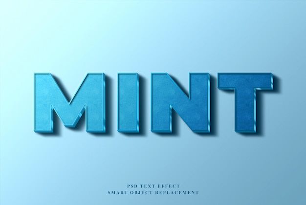 Mint text effect Premium Psd
