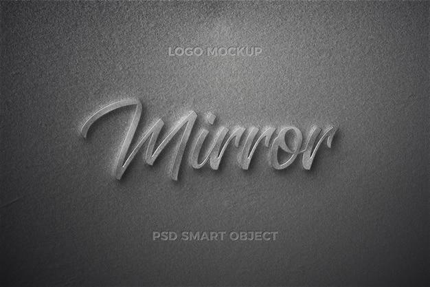 Mirror text style effect text template design Premium Psd