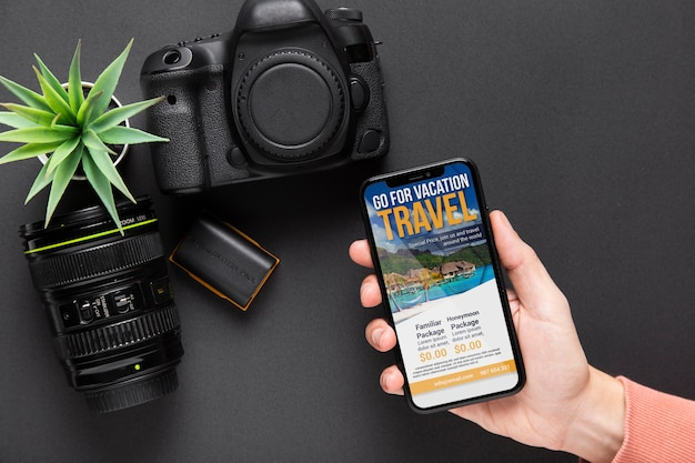 Mobile beside camera devices Free Psd