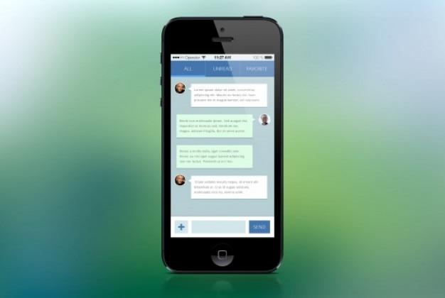 Mobile message board flat design PSD file | Free Download
