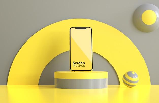 今年の色のモバイルモックアップ Premium Psd