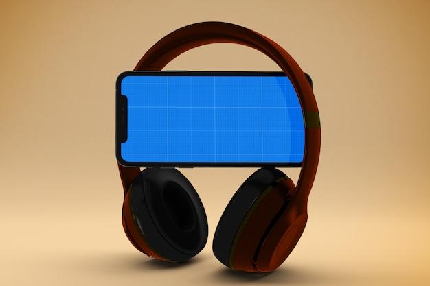 Мобильный музыкальный макет Premium Psd
