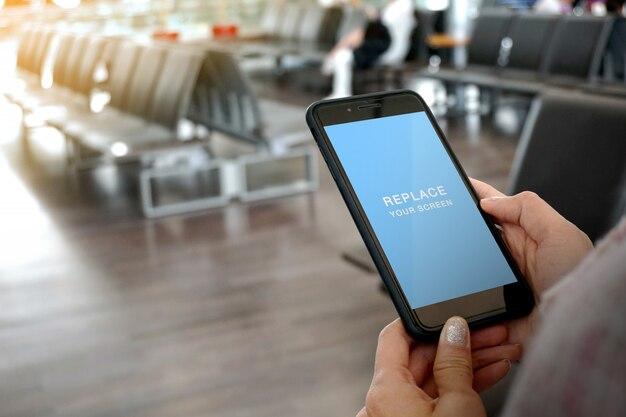 Mobile phone mock-up Premium Psd