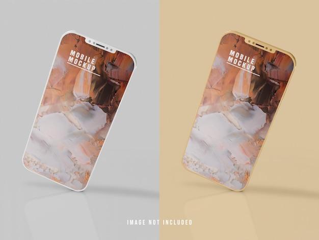 携帯電話のモックアップデザインpsd 無料 Psd