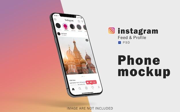 Mobile phone mockup for social media Premium Psd