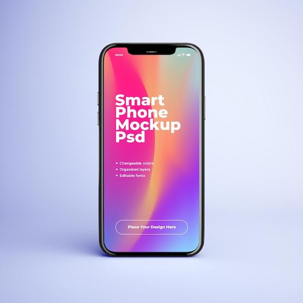 編集可能なデザインと色の変更が可能な携帯電話のモックアップ Premium Psd