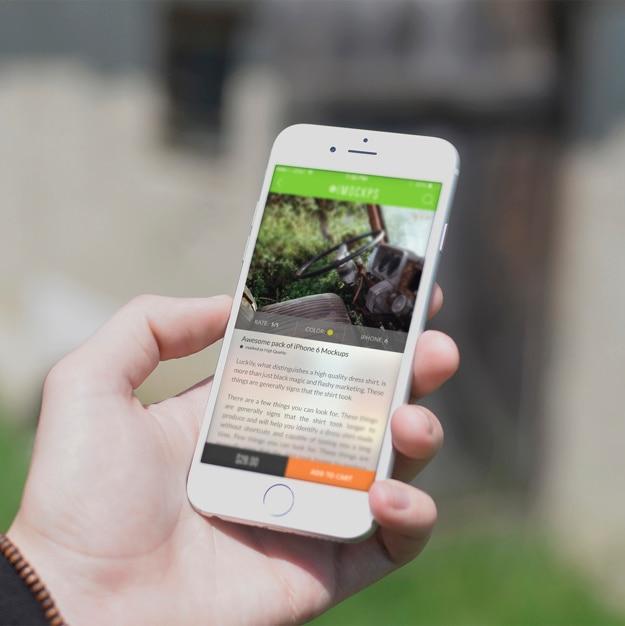 Mobile phone screen mock up design Free Psd