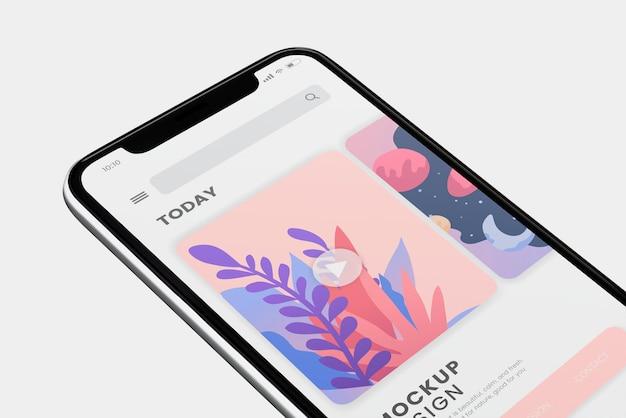 Дизайн макета экрана мобильного телефона Бесплатные Psd
