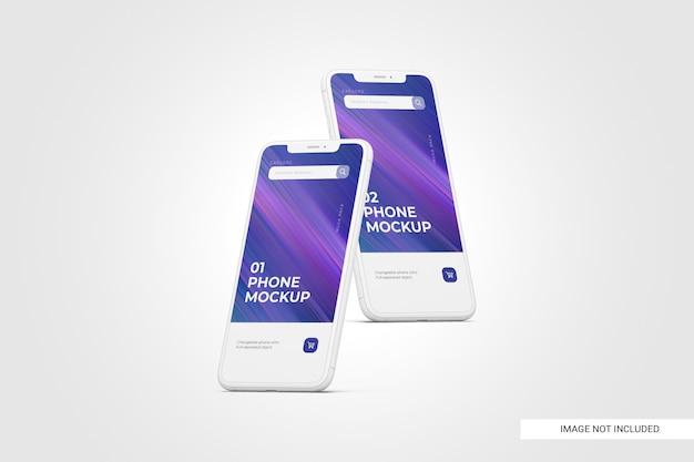 Mobile phone screen mockup Premium Psd