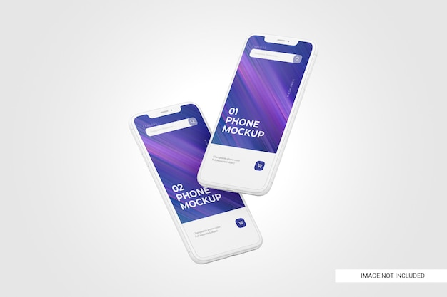 Mobile phone screen mockup Premium Psd