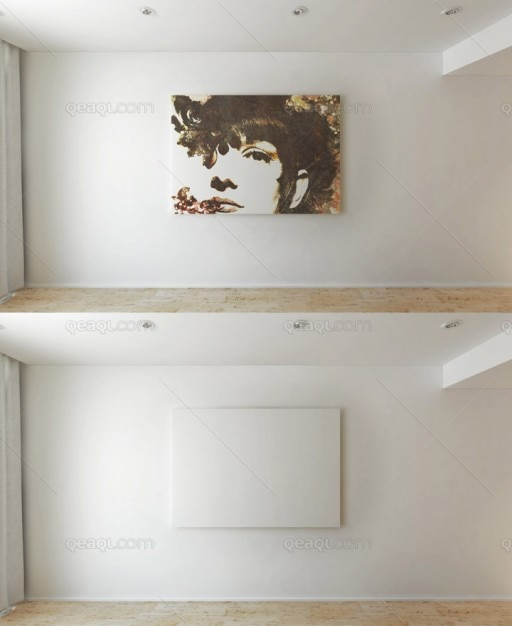 Mock Up Art Wall Psd File Free Download