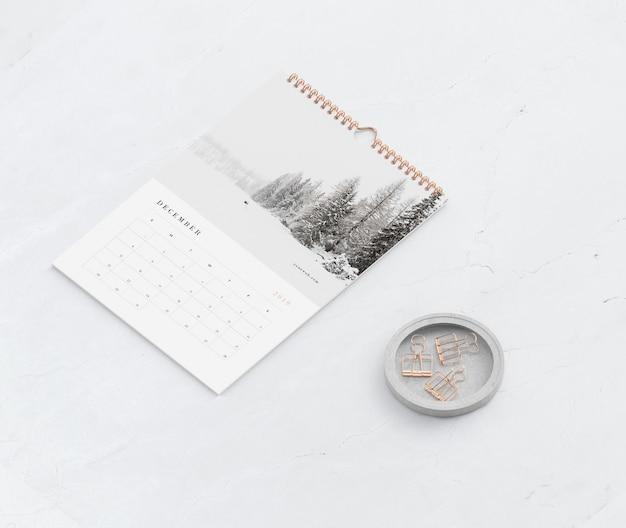 Макет книги спиральная ссылка для концепции календаря Бесплатные Psd
