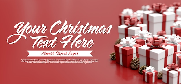 Mock up of a christmas scene Premium Psd