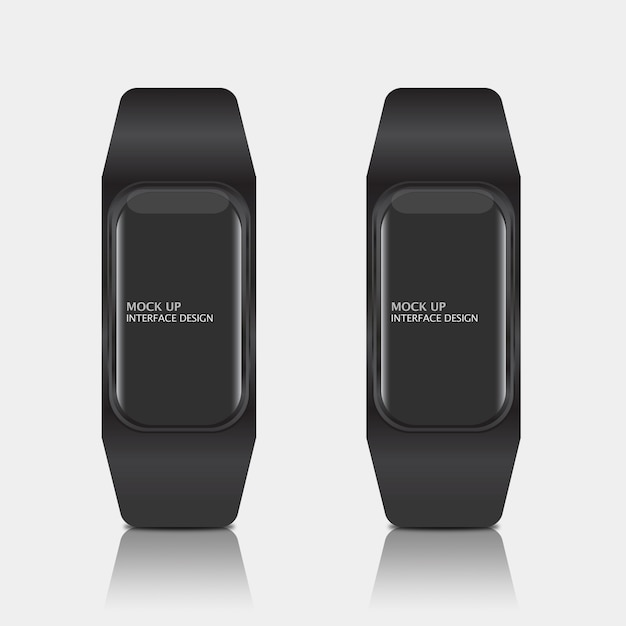 Mock up of digital display interface for smart watch Free Psd