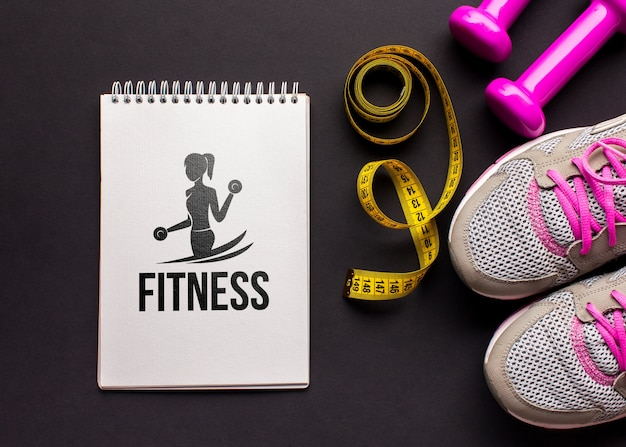 Mock-up fitness class equipments Free Psd