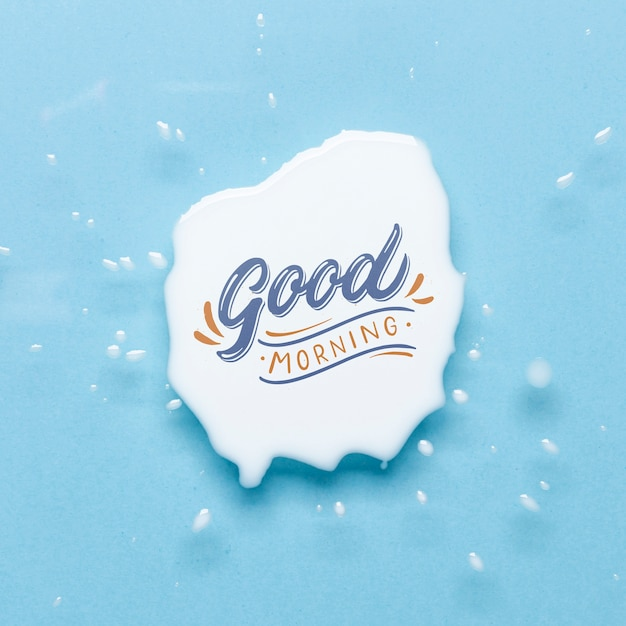 Mock-up good morning message Free Psd