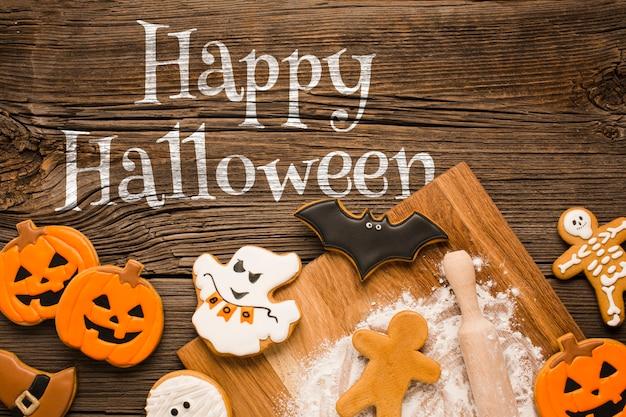 Mock-up happy halloween specific treats Free Psd