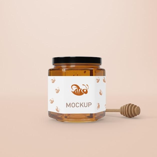 Mock-up jar with honey Free Psd