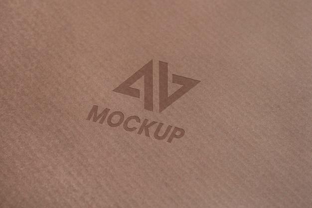 Mock-up logo design on business cards Free Psd