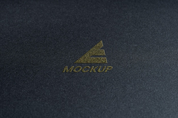 Mock-up logo design business close-up Free Psd