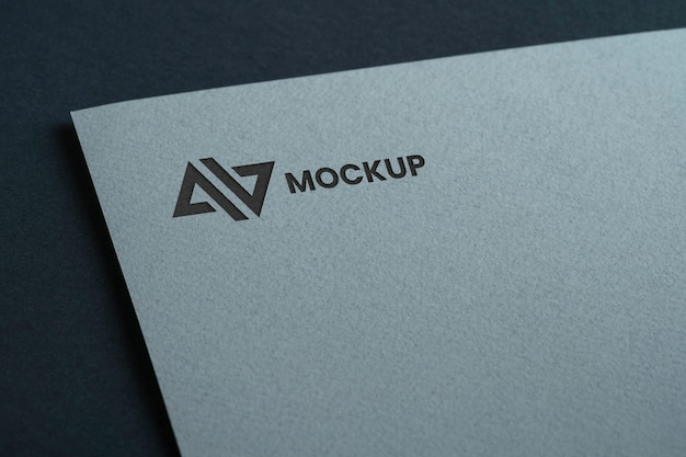 Mock-up logo design business on white document Free Psd