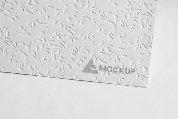 Макет логотипа на визитных карточках Бесплатные Psd
