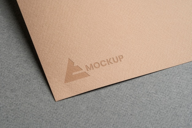 Mock-up logo design on stationery accessories Free Psd