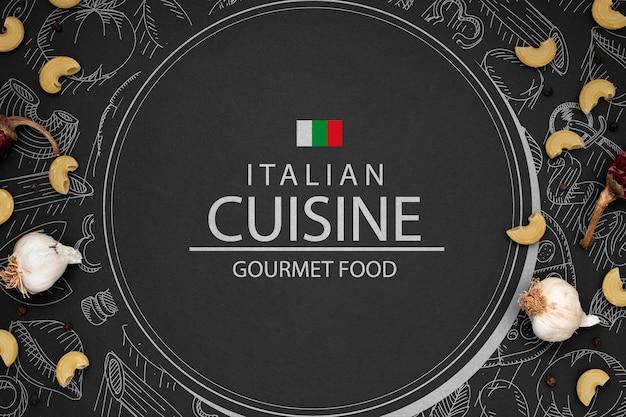 Mock-up logo of italian restaurant Free Psd