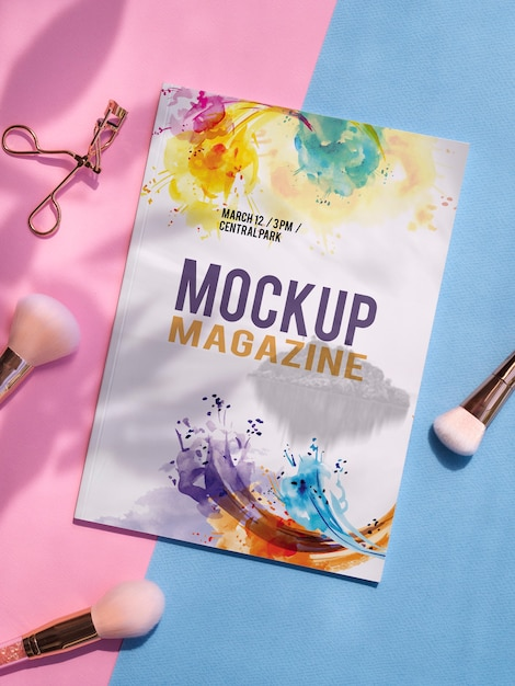 Download Free Psd Nature Book Mock Up On Yellow Background PSD Mockup Templates