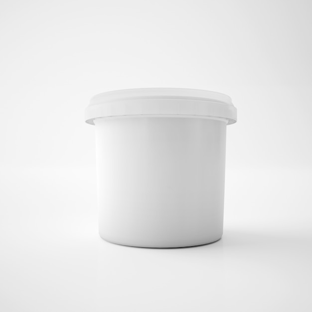 Mock up template plastic tub bucket container Free Psd