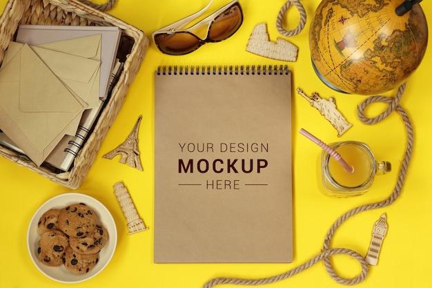Mockup album for traveling Premium Psd