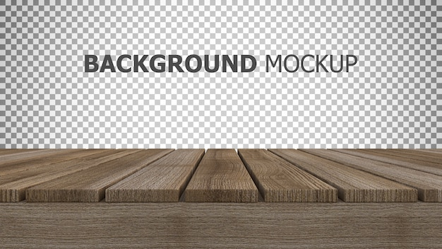 Mockup Background For 3d Rendering Of Wooden Panel Psd File